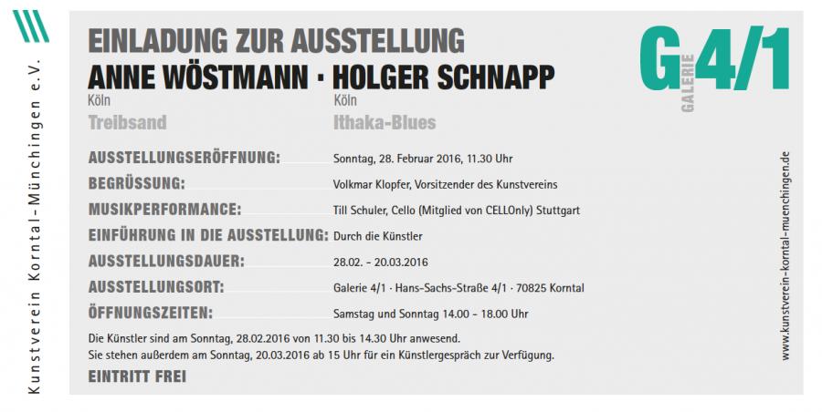 Anne Wöstmann und Holger Schnapp Ausstellung
